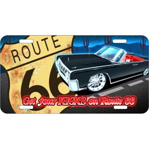 Route 66 Lincoln30.5x15.0cm,메탈시티