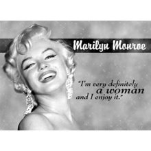 Marilyn Monroe - I'm very definitely a woman 마릴린먼로 틴사인44.5x31.5cm,메탈시티